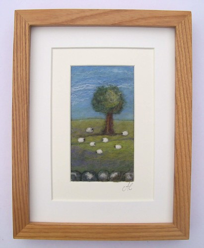 Framed Sheep and Tree Picture | by *Aileen Clarke Crafts*
