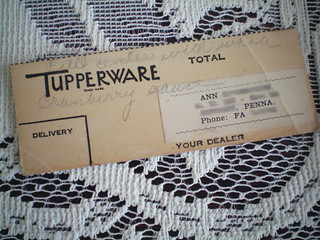 Tupperware party note | by juliezryan