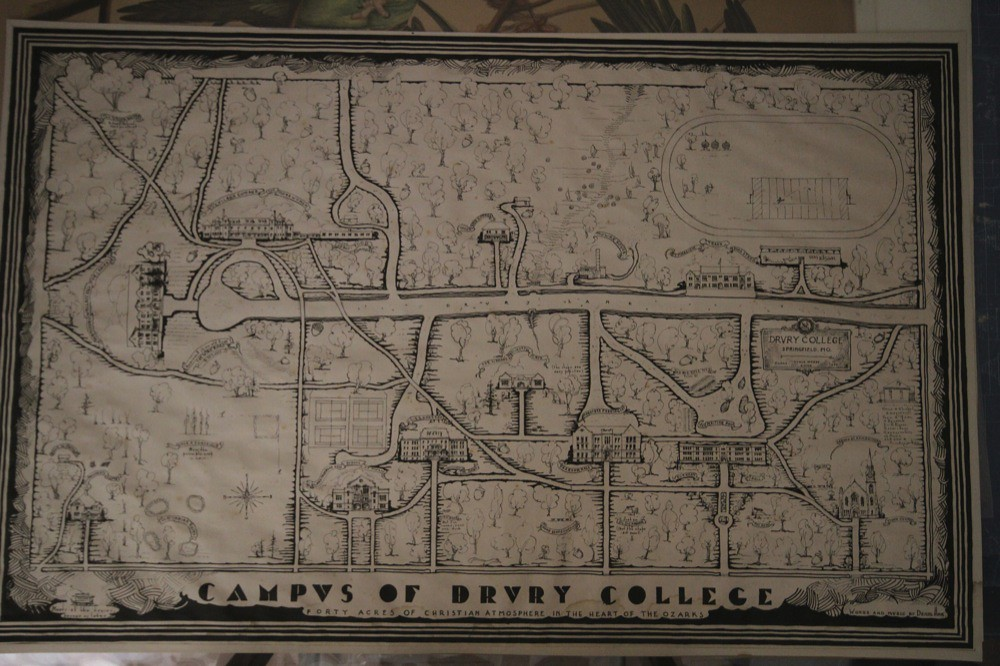 Historical Campus Map Drury University Flickr