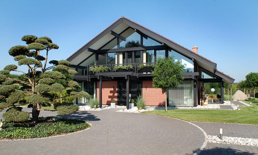 Modernes Fachwerkhaus 002 Davinci Kundenhaus Fachwerkkons Flickr