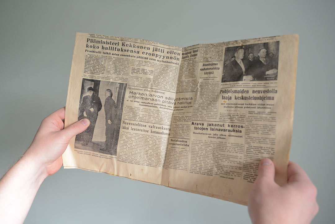 Kaleva Newspaper January 1956