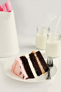 Inside Out Neapolitan Layer Cake