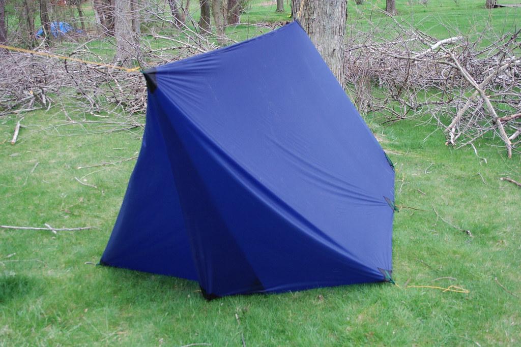... diy tarp tent foul weather door | by eggrole & diy tarp tent: foul weather door | with a pair of added tie u2026 | Flickr