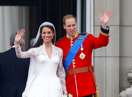 Waving to the crowds | by The British Monarchy