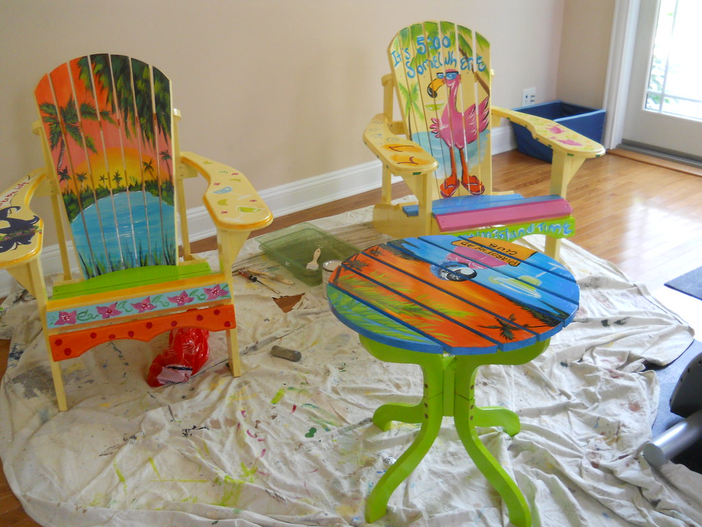 tropical painted furniture. Brilliant Furniture Margaritaville Chairs  By Arlmcloughlin  Throughout Tropical Painted Furniture