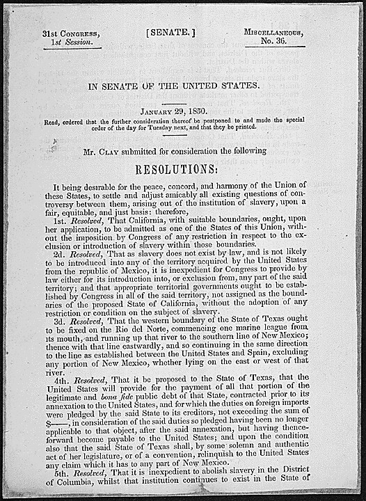 resolution introduced by senator henry clay that later bec flickr