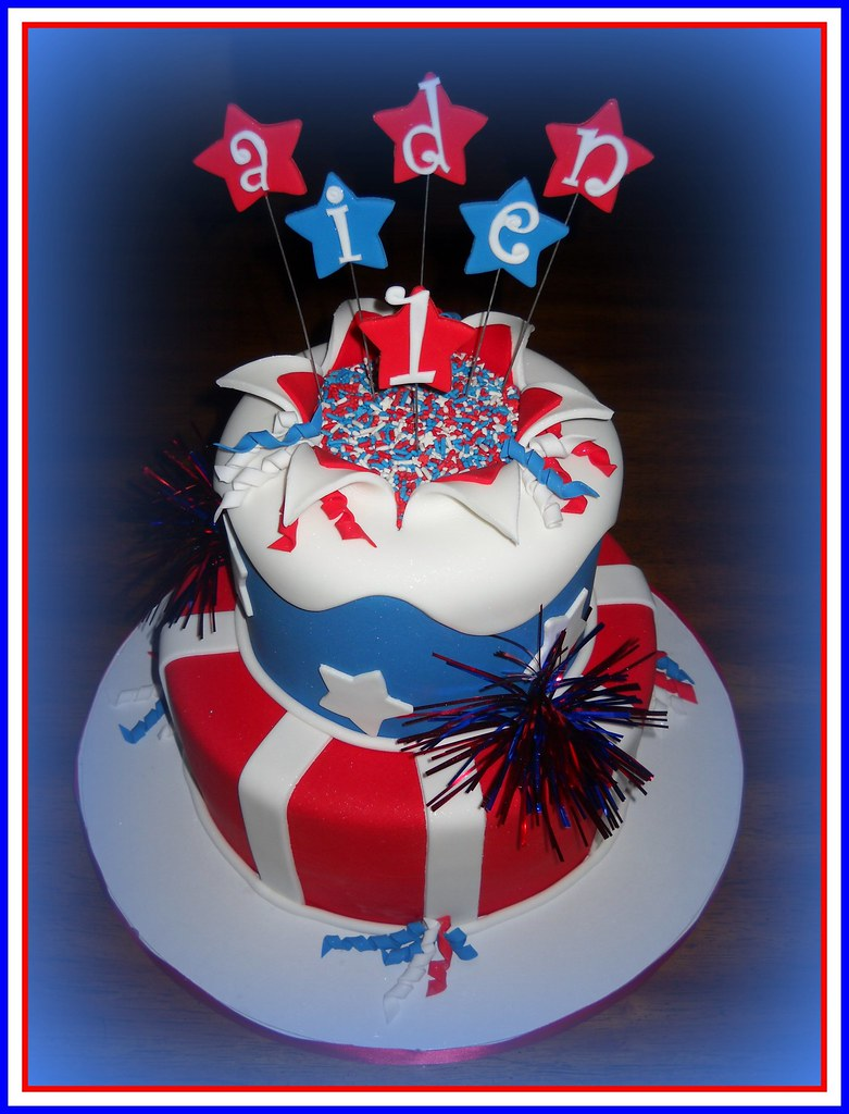 Aiden 4th Of July Birthday Cake First Time Trying The Ex Flickr