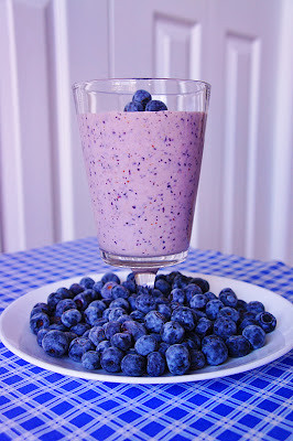 Blueberry Oatmeal Maple Smoothie | by Kitchen Life of a Navy Wife