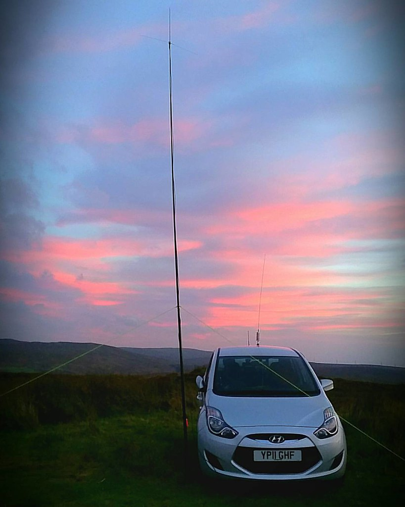 Up the hill for the 2m ssb contest #amateurradio #radiohob