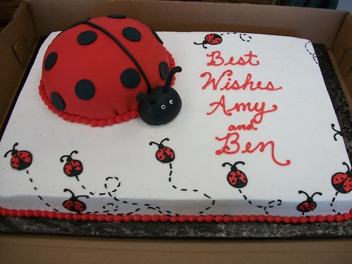 Lady Bug Cake Surcharge For The Fondant Lady Bug Cost