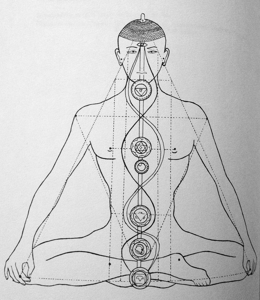 Drawing Of A Yogi In The Lotus Position