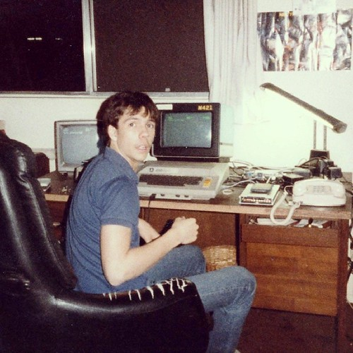 Surprised by Mom with my Atari 800 and dual monitor setup circa 1982 or 83 #tbt | by krynsky