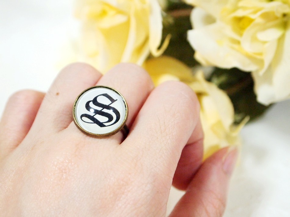 Custom Old English Initial Ring Letter S Custom Initial Flickr