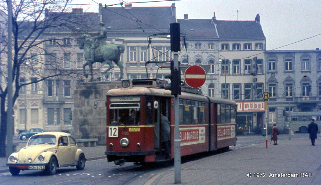 Tram & Trolleybus in Aachen (1972)