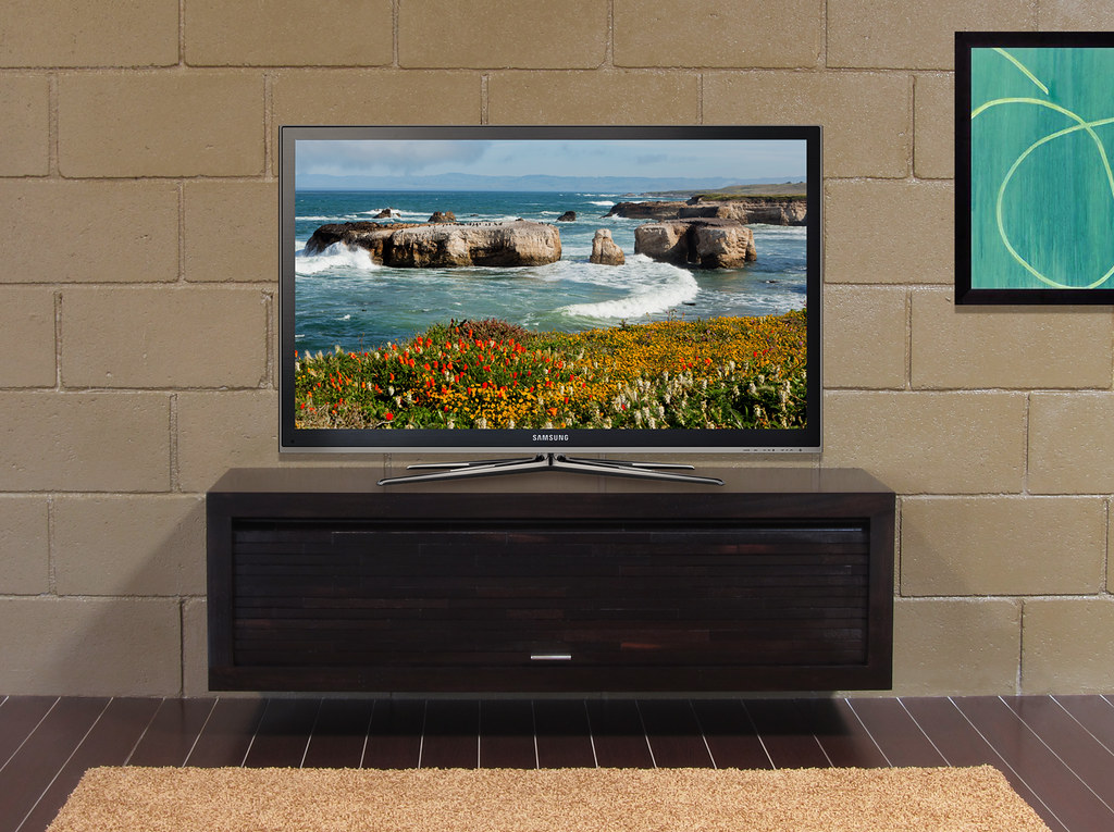 eco geo wall mounted floating tv stand espresso by woodwaves