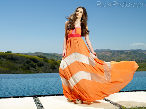 Lauren Calaway - The Orange Dress | by RickrPhoto