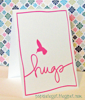 Silhouette Card - hugs and humming birds | by paperologizt