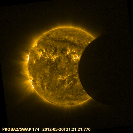 Proba-2 catches solar eclipse | by europeanspaceagency
