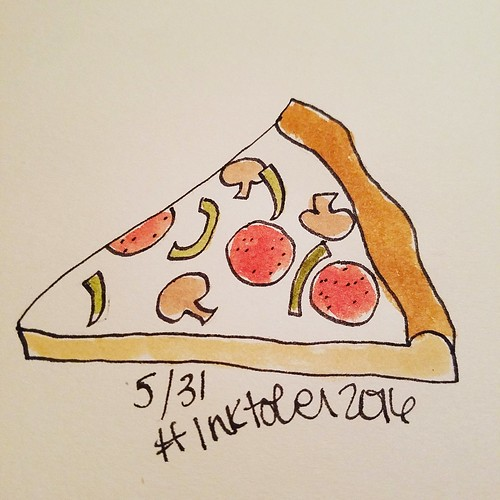 5/31 Pizza #inktober #inktober2016 | by trishsworld