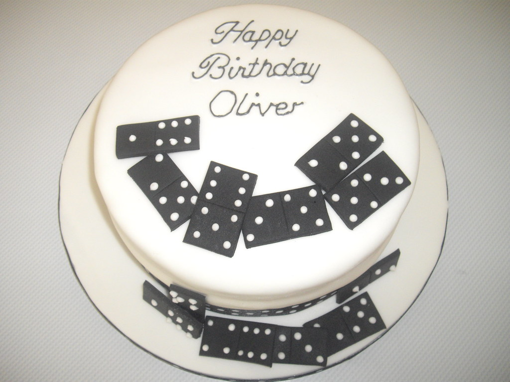 Domino Birthday Cake Cressida Phillips Flickr