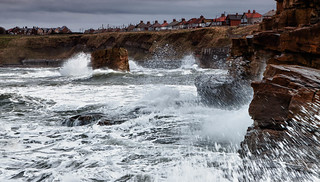 Waves crashing against Charlie's Garden | by stewartl2010