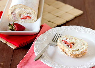 Angel food cake with strawberries & whipped cream | by Brown Eyed Baker