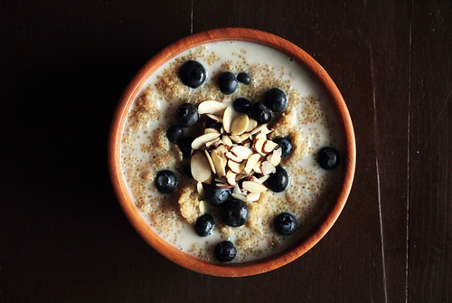 Blueberry Breakfast Quinoa | by pastryaffair