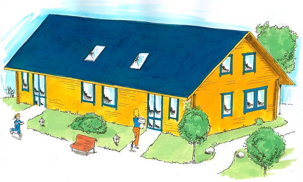 Holzhaus. Hausbau. Hausdarstellung. | Götz Wiedenroth • www ...