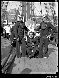 Chilean sailors posing on the deck of GENERAL BAQUEDANO, July 1931 | by Australian National Maritime Museum on The Commons