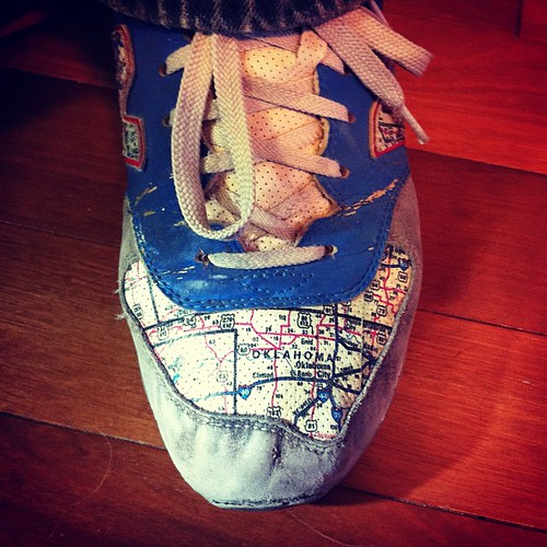 My friend's totally sweet map shoes! | by All Things Bright