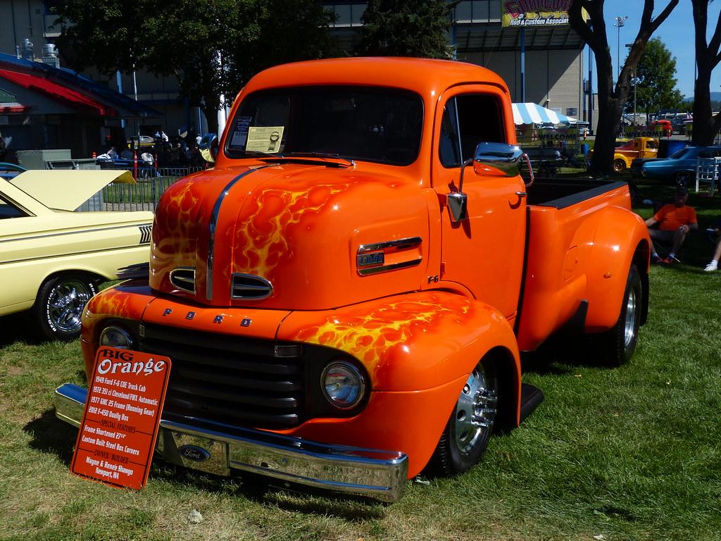 Big Orange 49 Ford Coe Goodguys Spokane Bballchico Flickr 1949 Truck By