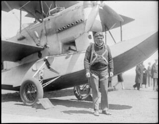 Lt. Richard Cobb - speed king of this part of the country, East Boston Airport | by Boston Public Library