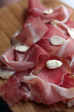 culatello fresh almonds frenchie | by David Lebovitz