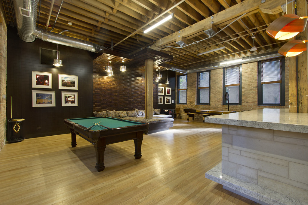 ... Cobbler Square Loft Apartments In Chicago, IL   Club Room | By  Village_Green