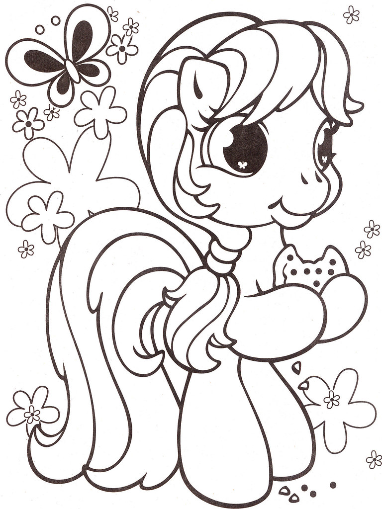 Vintage my little pony coloring pages - Vintage My Little Pony Coloring Pages 3
