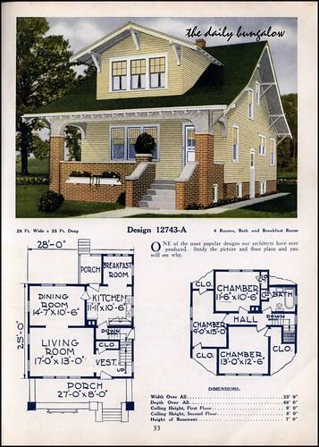 1925 26 c l bowes house plans for 1925 bungalow floor plan