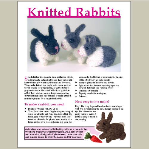 Knitted Bunny Rabbit Pattern With This Knitting Pattern Yo Flickr