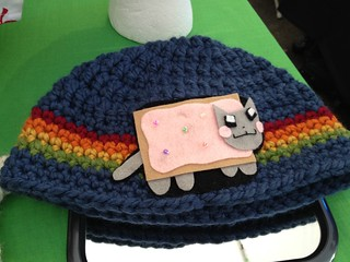 Nyan cat hat! | by rikomatic