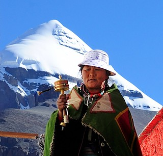 Pilgrimage at Choku monastery, with Mt Kailash in the background. Tibet | by reurinkjan