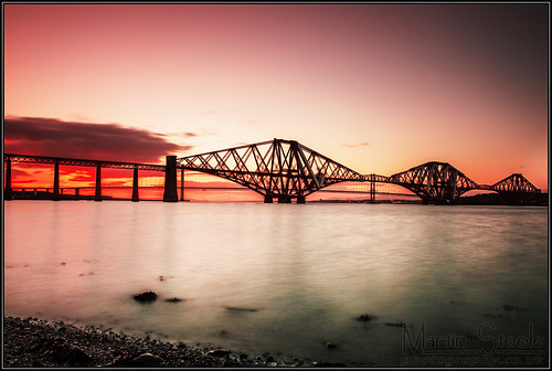 Forth Bridge sunset | by Martin Steele.