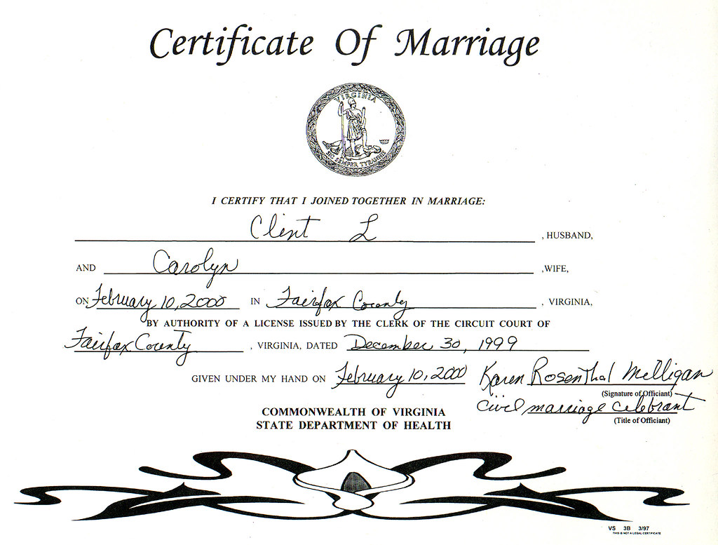 20000210 Our Wedding 1 Marriage Certificate 020 P Flickr
