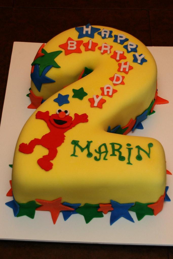 2nd Birthday Elmo Cake Yay I finally got to make a cake t Flickr