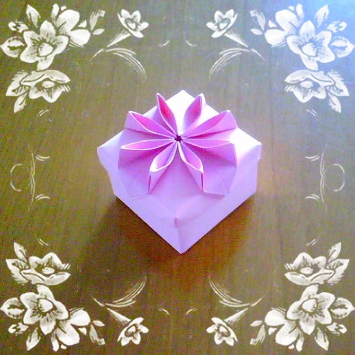 Origami flower box new version 2 katrins18 flickr origami flower box new version 2 by katrins18 mightylinksfo