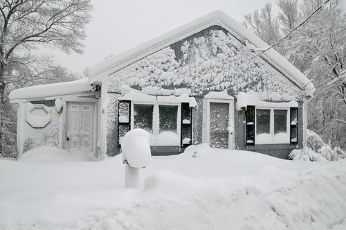 snow covered house - photo #24