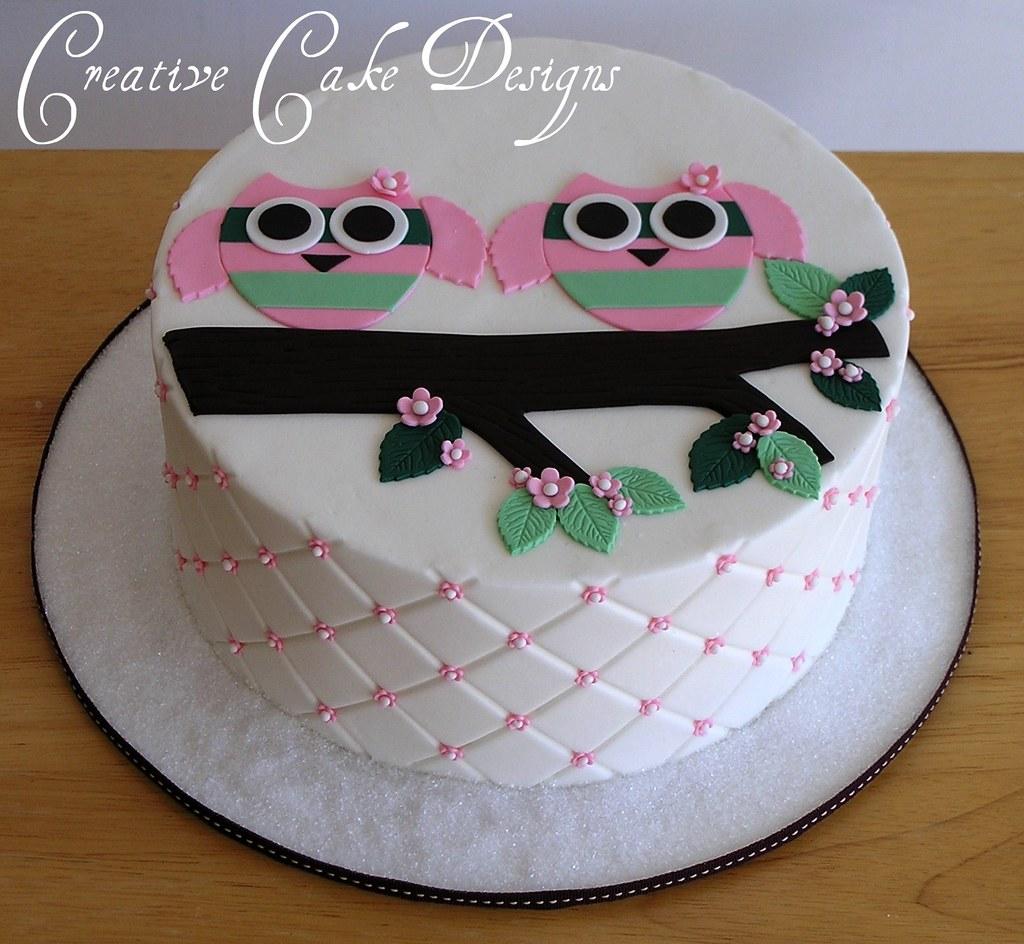 ... Twin Owl Baby Shower Cake | By Christinau0027s Dessertery