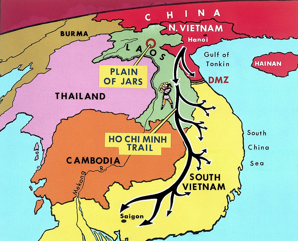 Vietnam War 1970 Map of the Ho Chi Minh Trail 18 Mar 197 Flickr