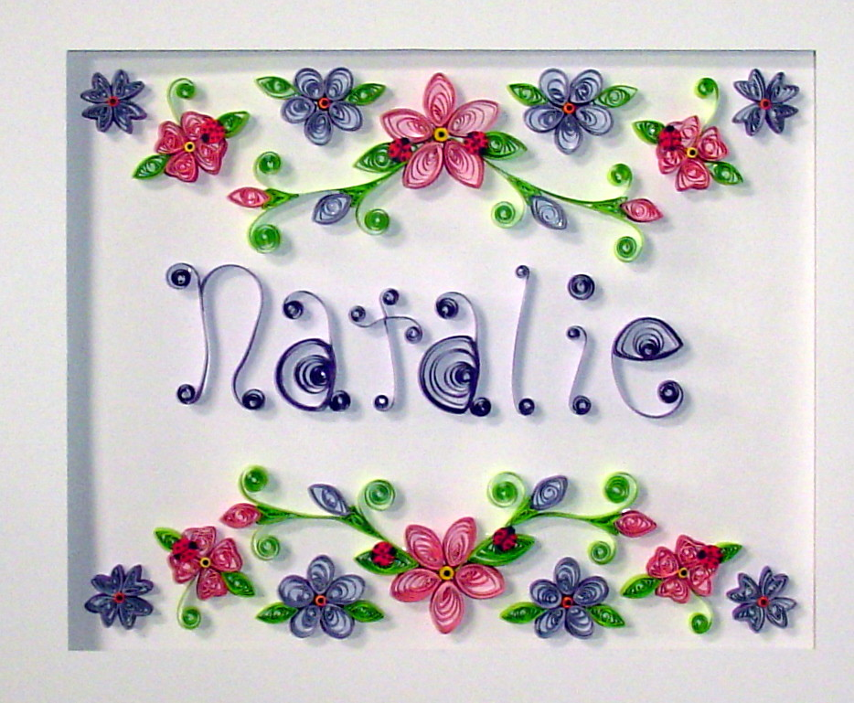 Paper Quilling Custom order in 11X14 shadowbox frame | Flickr
