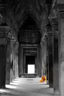 Monk in Angkor Wat | by Tay-FUN