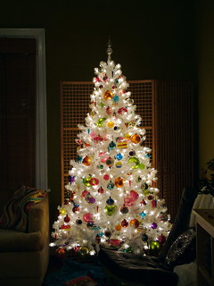 White Christmas Tree Glow BEST VIEWED LG. for detail | by charlie3engineer