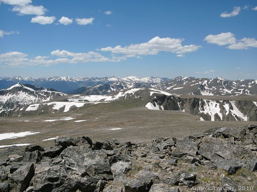Views from atop Hallett Peak, Rocky Mountain National Park, Colorado